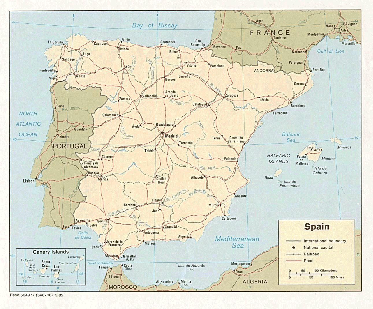 Spain Madrid Weather and Maps